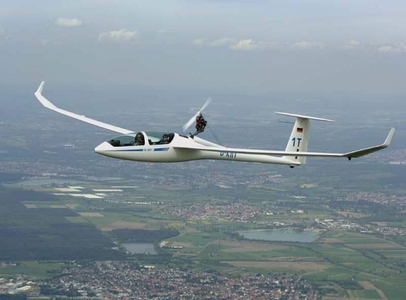 Мотопланер - полет на планере с мотором