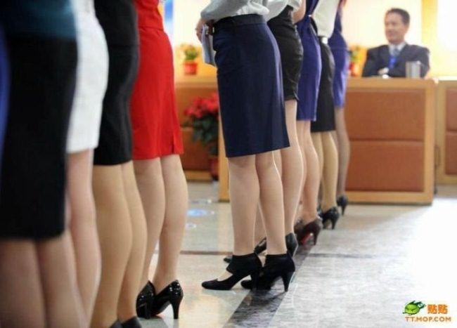 Кастинг на стюардессу в Китае