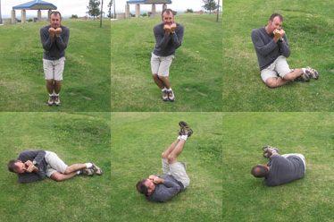 Как держать ноги при встрече с землей во время парашютного прыжка