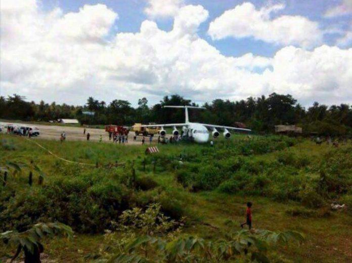 BAe 146-200 авиакомпании Skyjet выкатился за пределы ВПП при посадке на острове Сиаргао
