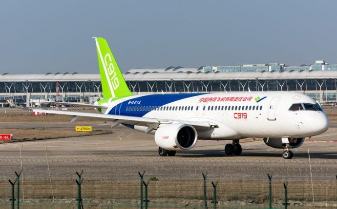 Китайский самолет C919 набирает популярность