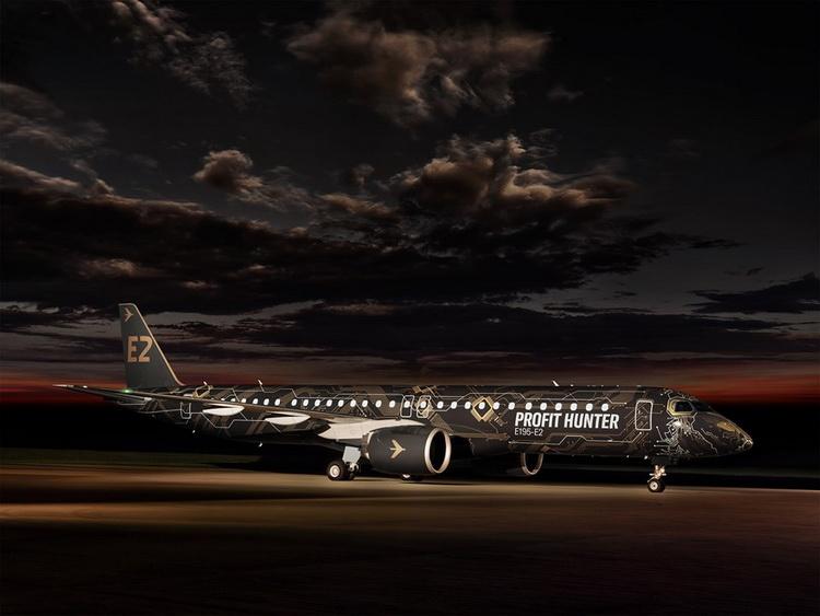 Новый Embraer E2 в ливрее льва облетит землю