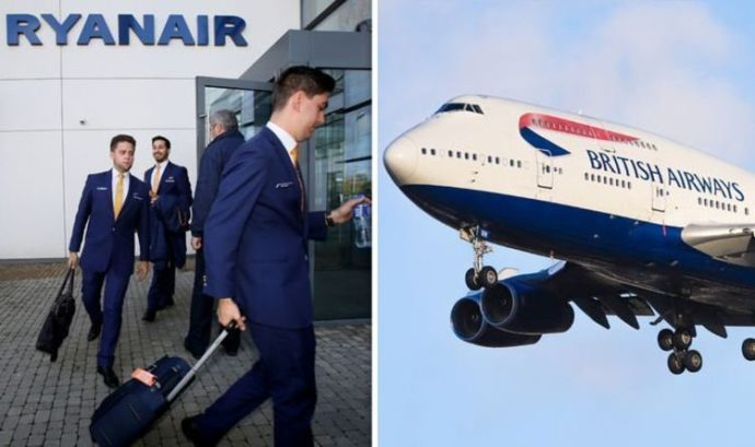 Зарплаты пилотов Ryanair и British Airways