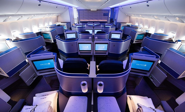 united airlines business class