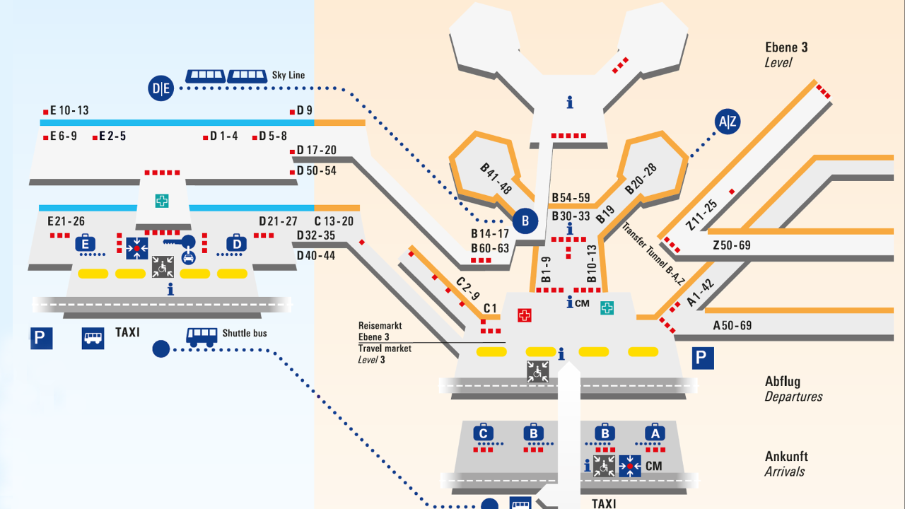 Frankfurt flughafen схема
